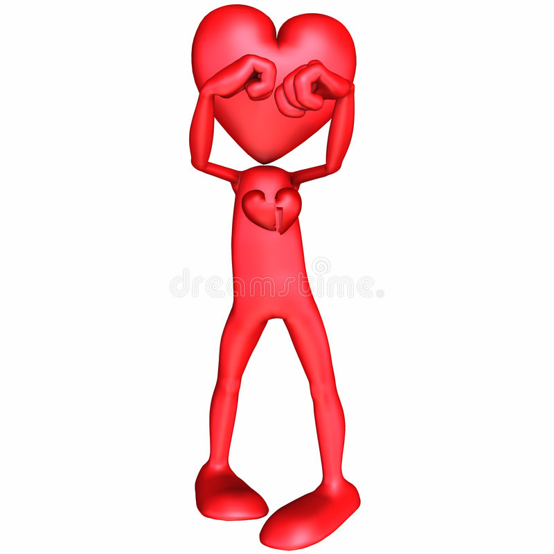 Download Valentine - Broken Hearted stock illustration. Image of broken - 1707099
