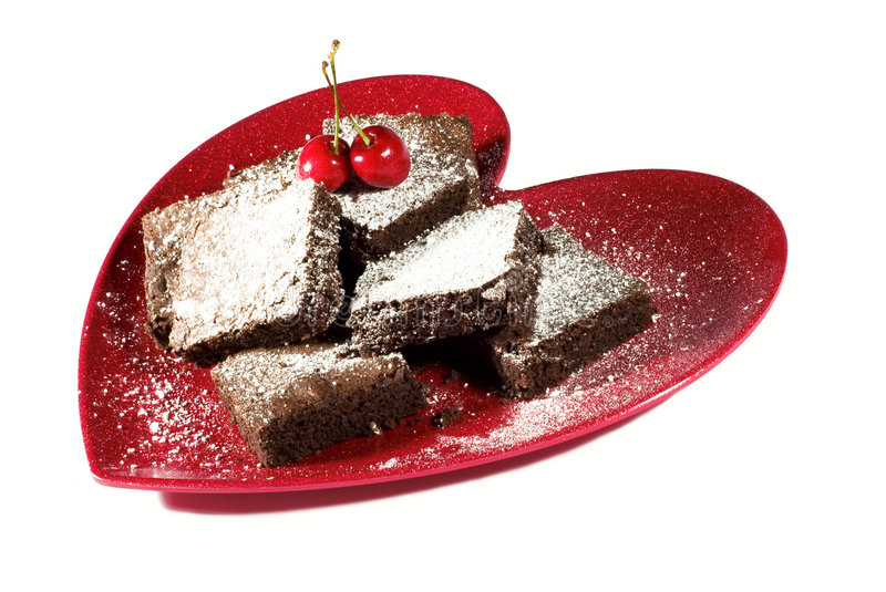 Valentine Brownies royalty free stock photography