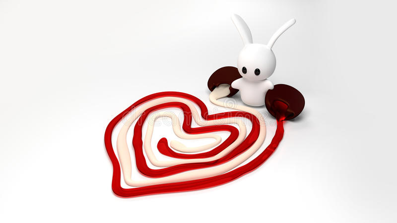 Valentine Bunny royalty free stock images