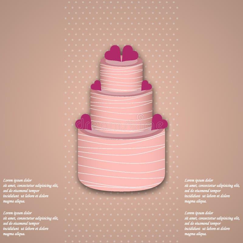 Valentine Cake stock illustrationer