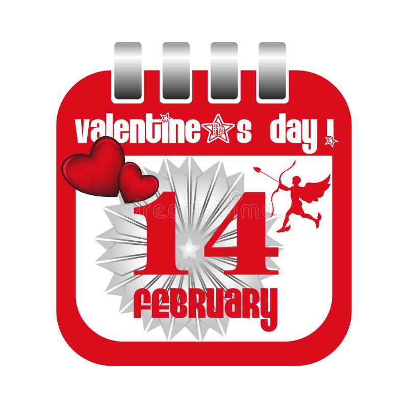 Valentine calendar sheet stock photo