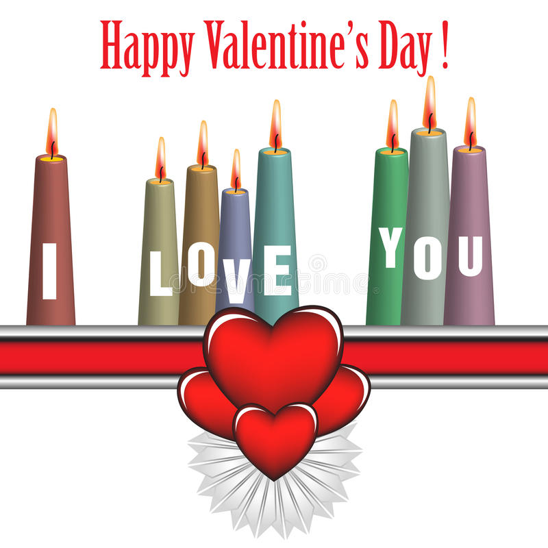 Valentine candles stock images