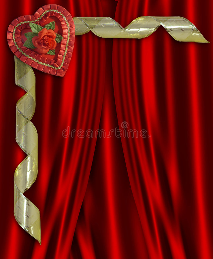 Valentine Candy Heart Red Satin royalty free stock photography