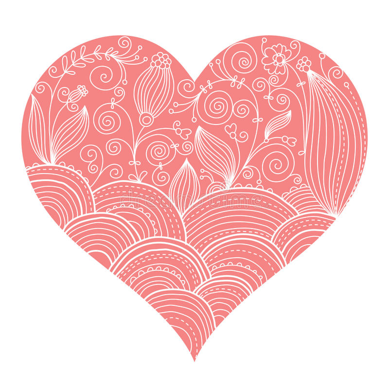 Valentine card royalty free illustration
