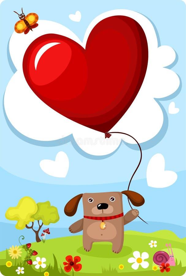 Valentine card. Vector illustration of a valentine card