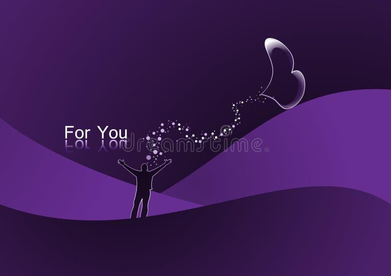 Valentine card. Background card designed for valentine day stock illustration