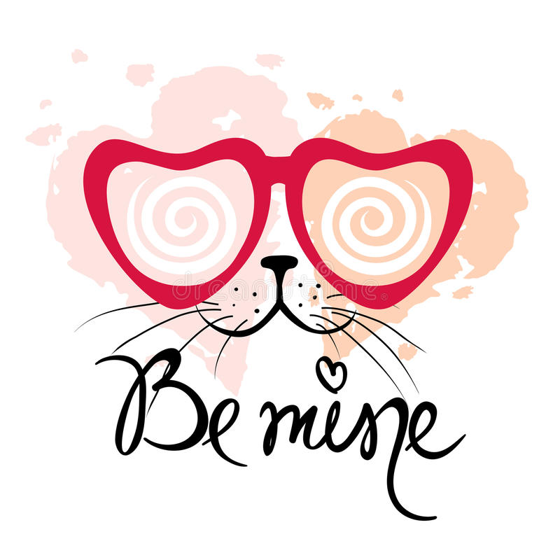 Download Valentine Card -- Be Mine Stock Vector - Image: 83706215
