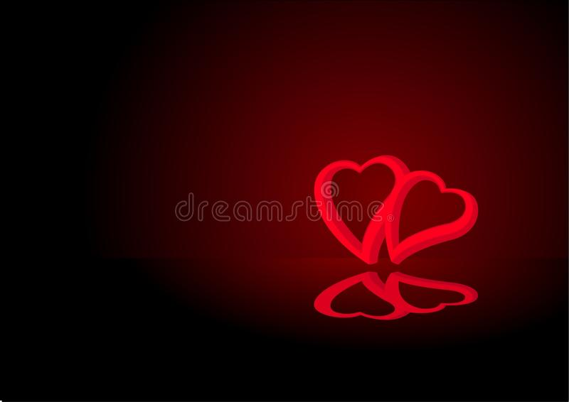 Download Valentine card black stock image. Image of reflect, valentine - 12634515