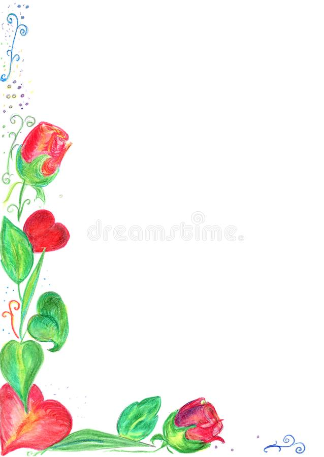 Valentine card border royalty free stock photography