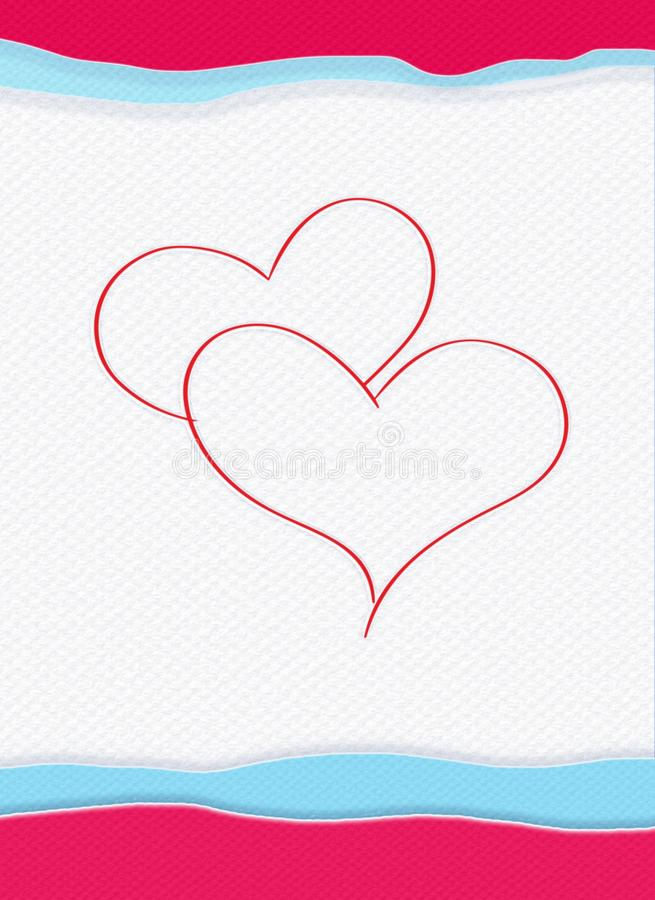 Valentine card, colorful fabric background, upright. Valentine card, Happy Valentines Day, Love, Couple, Hearts, Holidays. Abstract Background. Festive Vertical royalty free illustration
