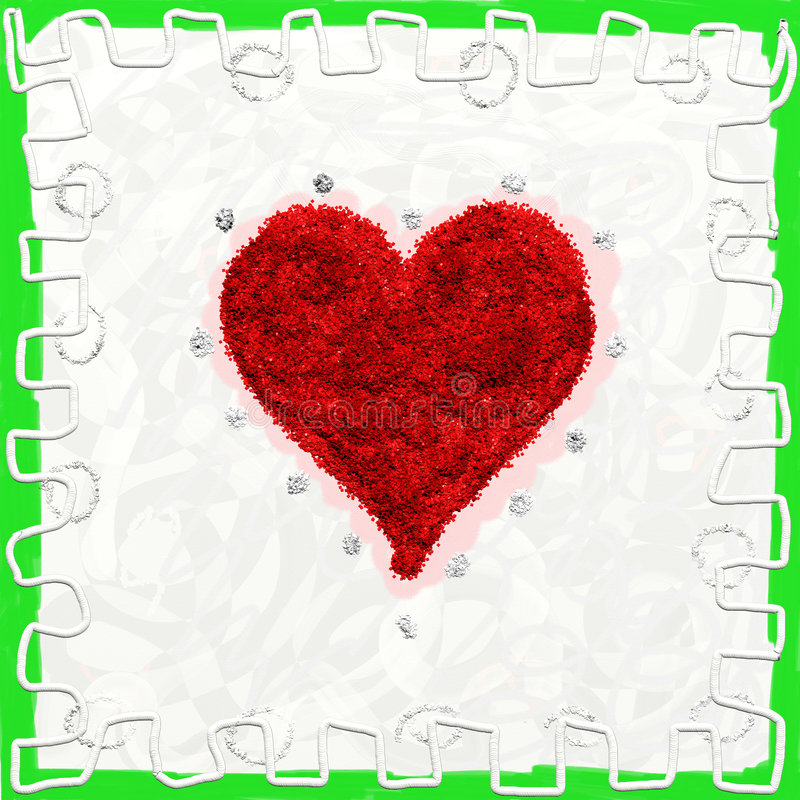 Valentine card, hearts red stock photo