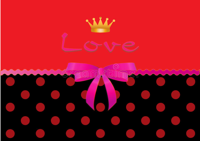 Download Valentine card-Love stock vector. Image of polka, colors - 28755701