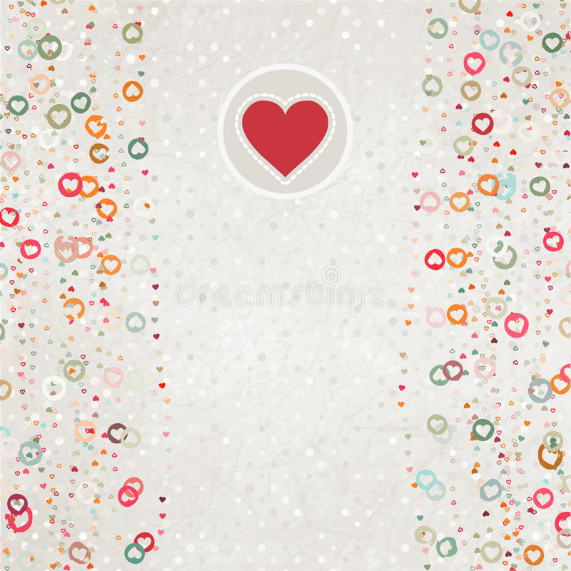 Download Valentine Card With Placeholder. EPS 8 Stock Illustration - Image: 22826606