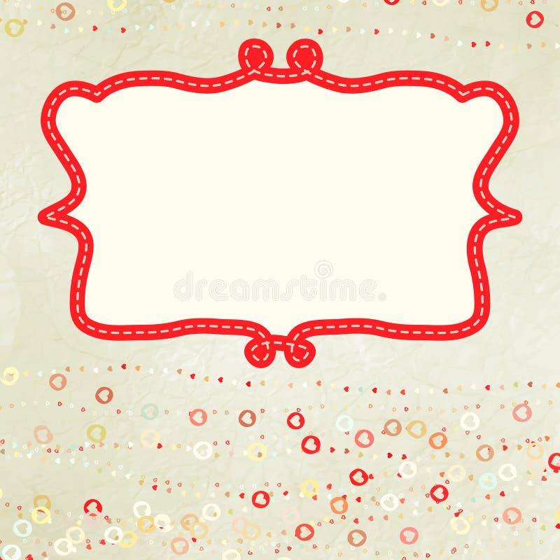 Valentine card with placeholder. EPS 8. Valentine card with placeholder. And also includes EPS 8 stock illustration