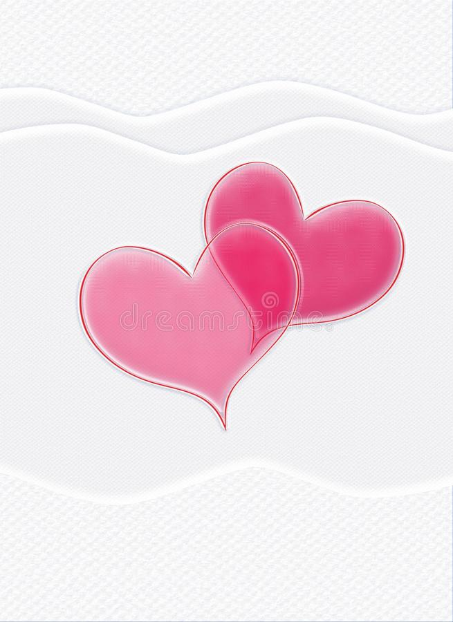 Valentine card, red hearts, of-white background, upright. Valentine card, Happy Valentines Day, Love, Couple, Hearts, Holidays. Abstract Background. Festive stock illustration