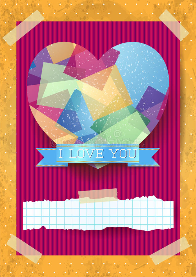 Valentine card with stunning heart royalty free illustration