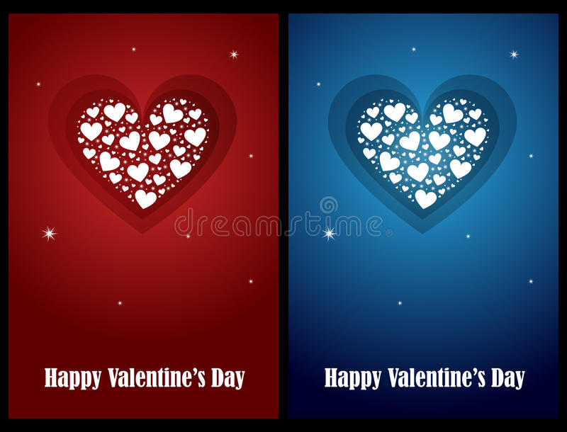 Valentine cards stock photography