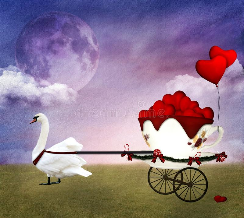 Download Valentine carriage stock illustration. Illustration of carriage - 28516242