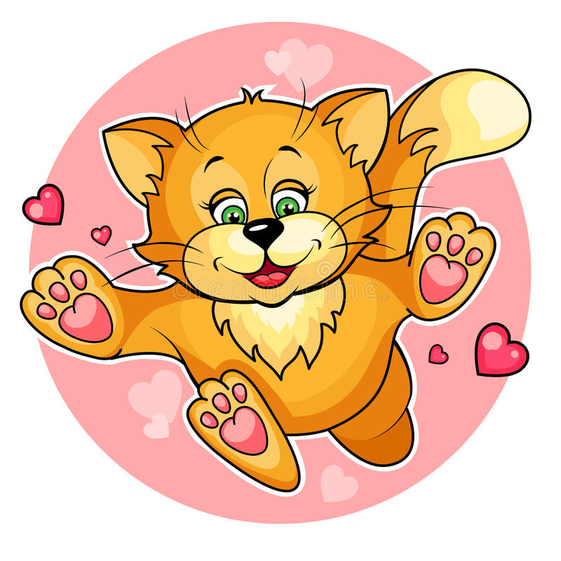 Valentine cat royalty free illustration