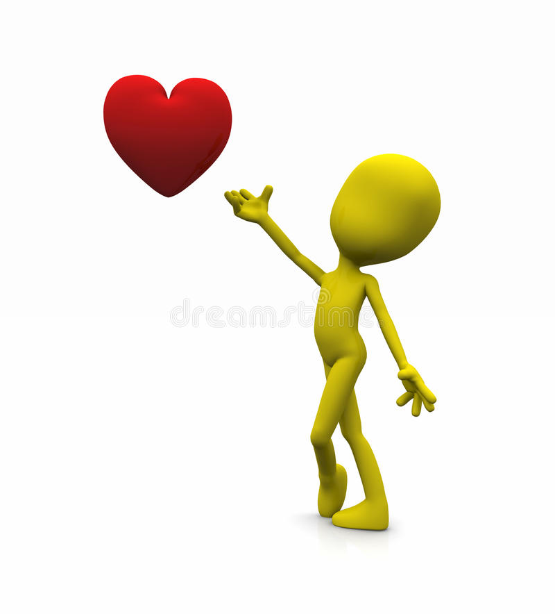 Valentine Character Royalty Free Stock Images