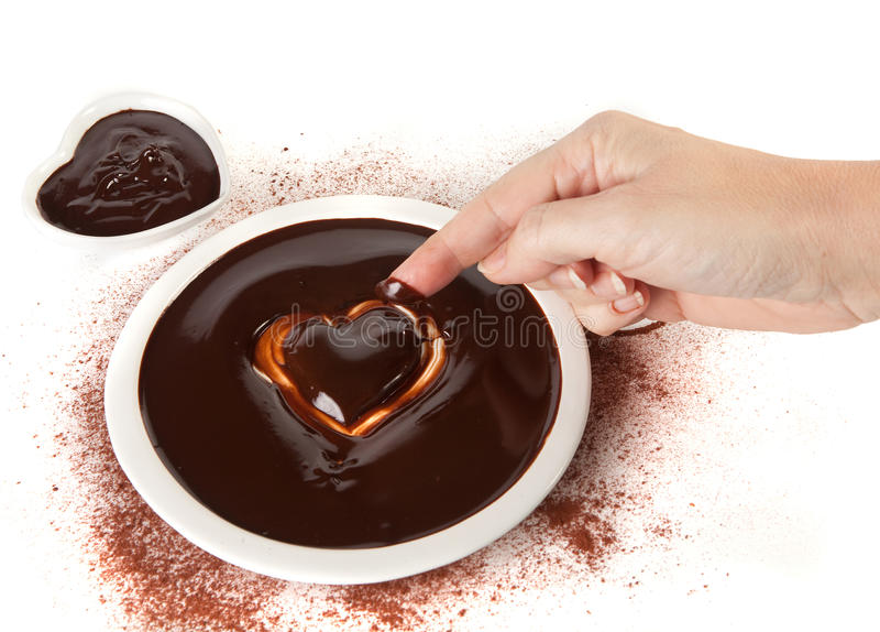 Valentine chocolate stock photo
