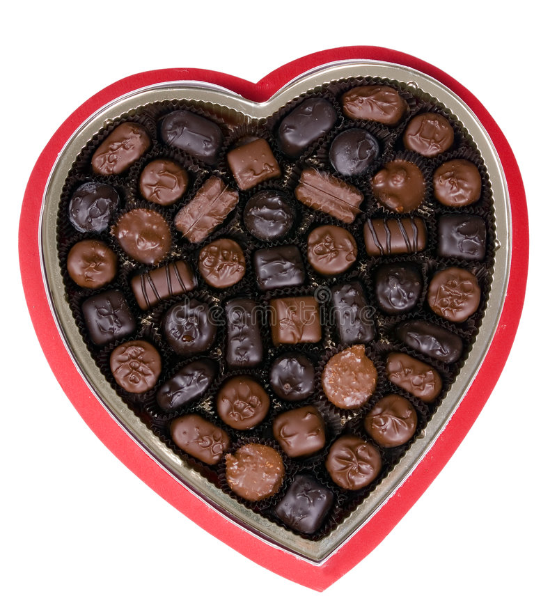 Valentine Chocolate 2 stock photo