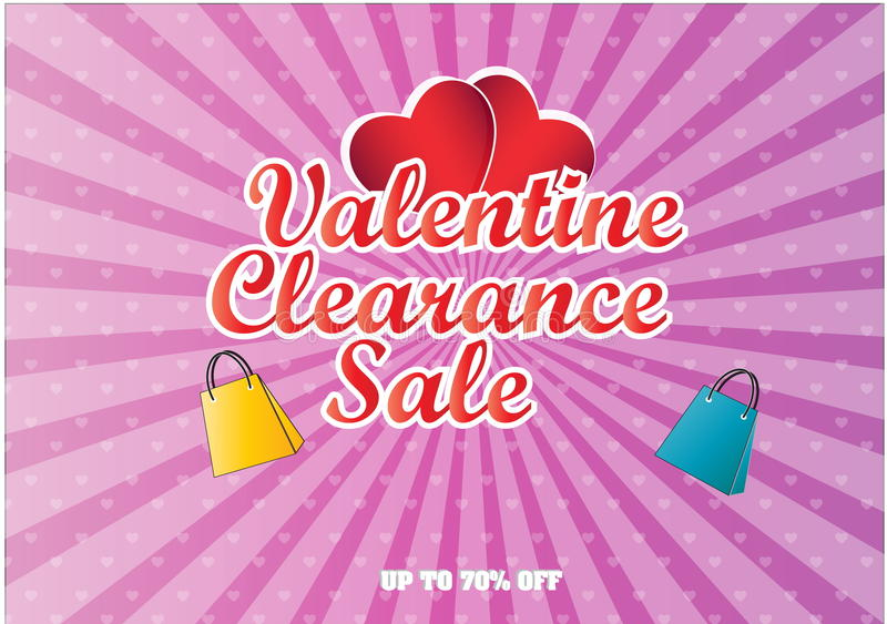 Download Valentine Clearance Sale Illustration Stock Illustration    Illustration: 49772108