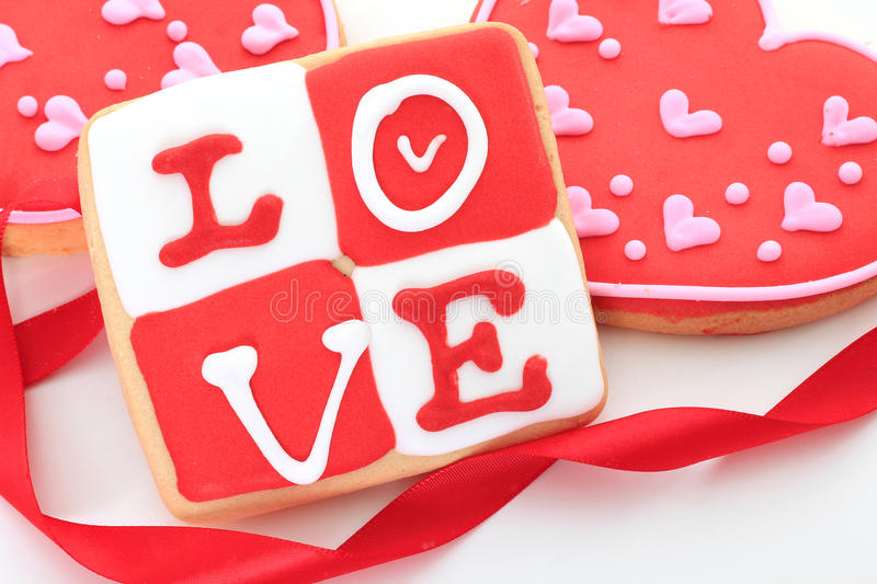 Download Valentine cookie stock image. Image of white, cookie - 22886803