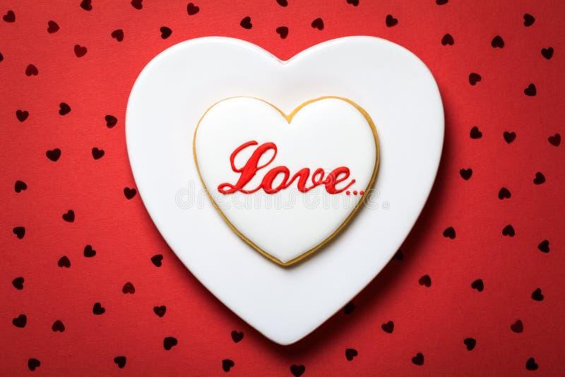 Valentine Cookie foto de archivo libre de regalías