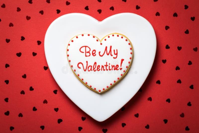 Valentine Cookie foto de archivo