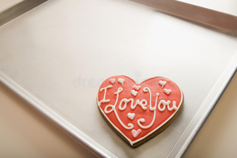 Valentine Cookie on Tray royalty free stock photos