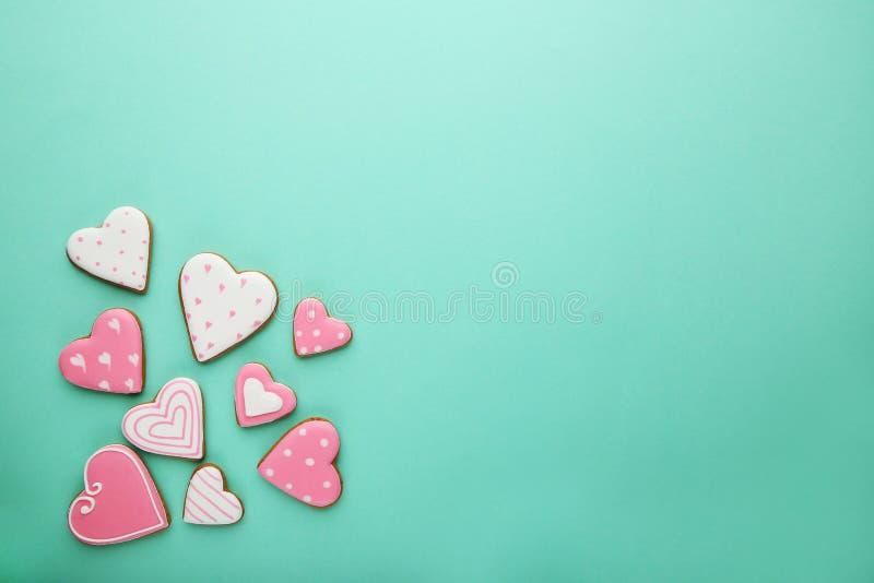 Valentine Cookies royaltyfri foto