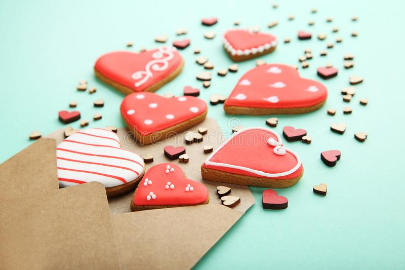 Valentine cookies stock photography