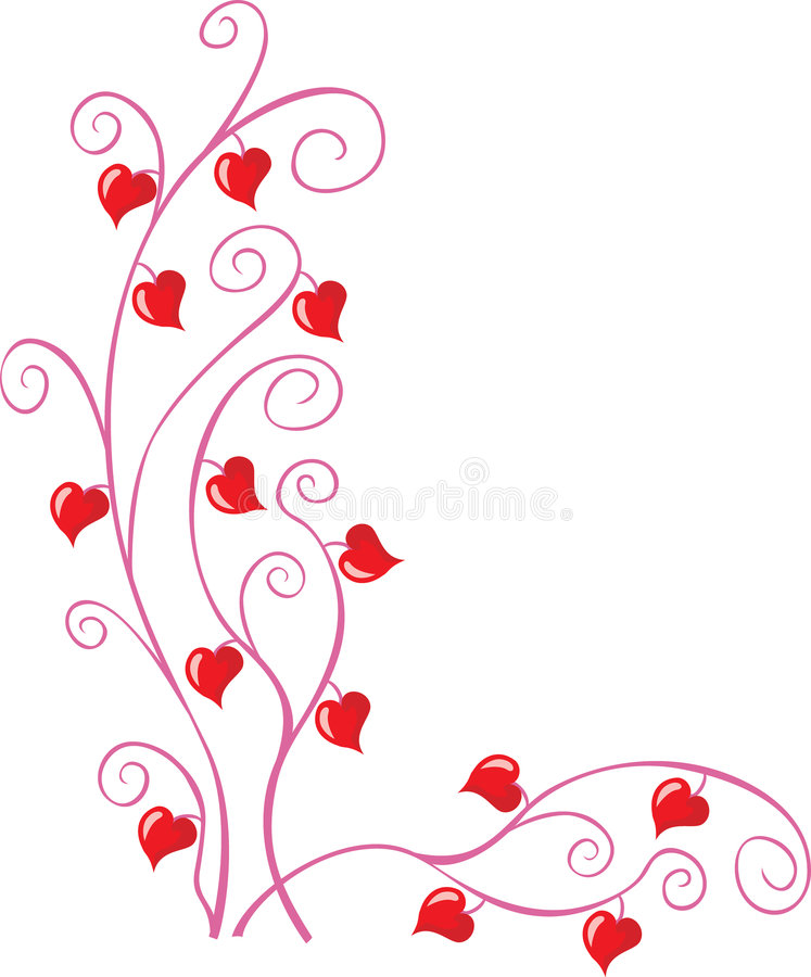 Valentine corner royalty free stock images