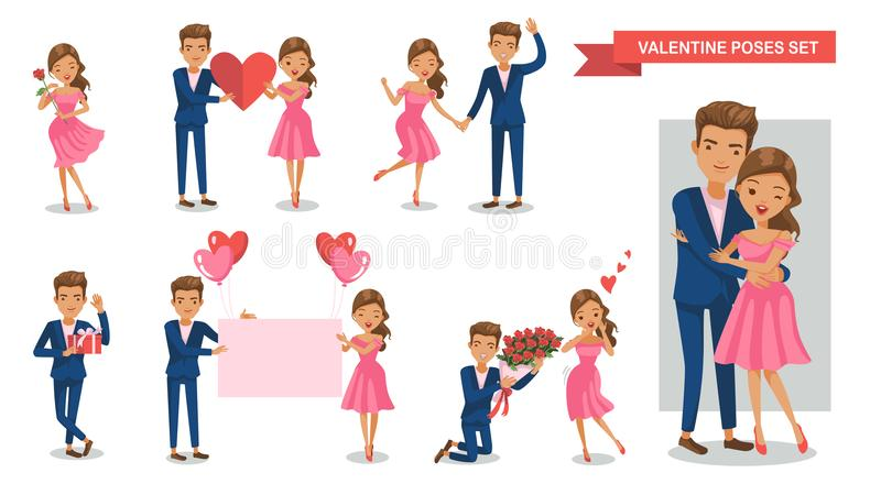 Valentine Couple illustration de vecteur