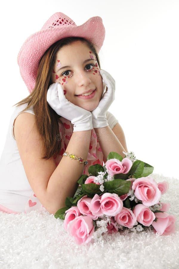 Valentine Cowgirl stock fotografie
