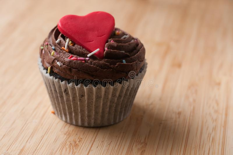 Valentine cup cake homemade royalty free stock image