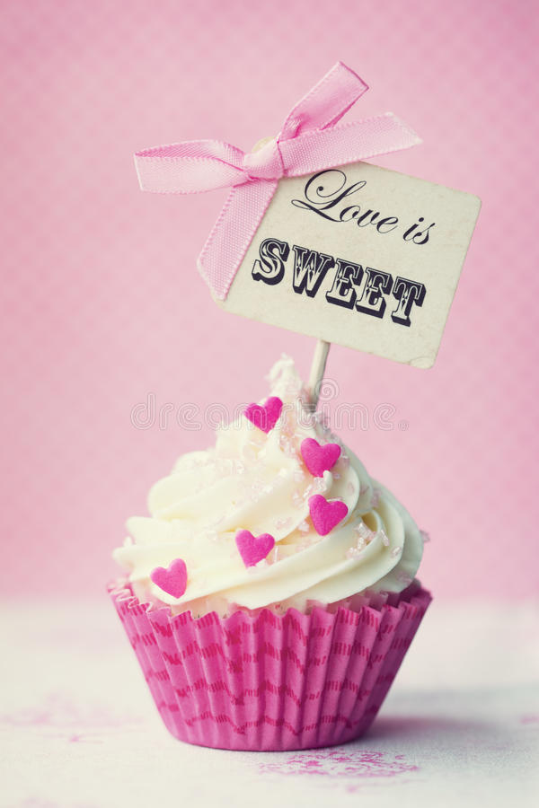 Download Valentine cupcake stock photo. Image of cakes, love, words - 36586700