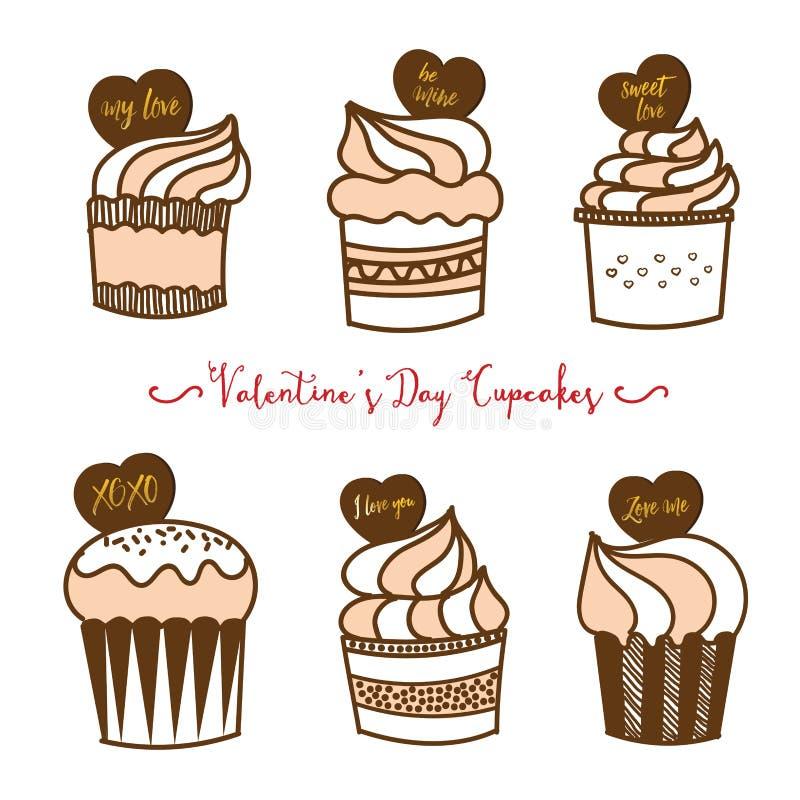 Valentine Cupcakes libre illustration
