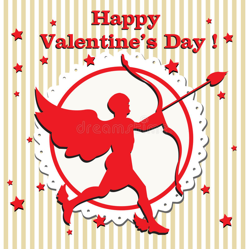 Valentine cupid with arrow stock images