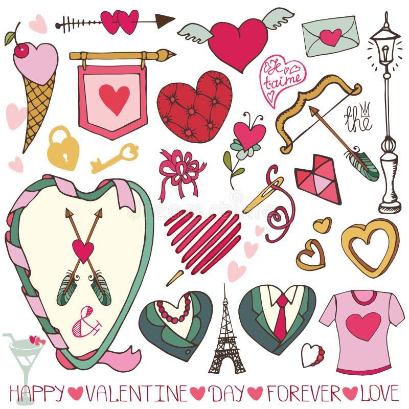 Valentine-dag, huwelijksontwerp vector illustratie