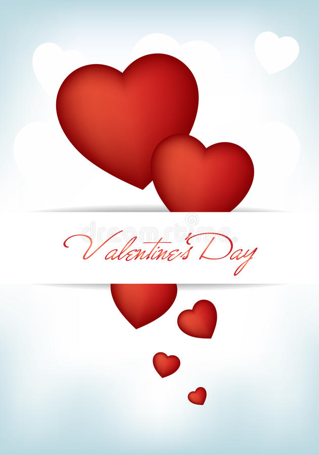 Valentine Day. This image is a vector file representing a Valentine Day card, all the elements can be scaled to any size without loss of resolution vector illustration