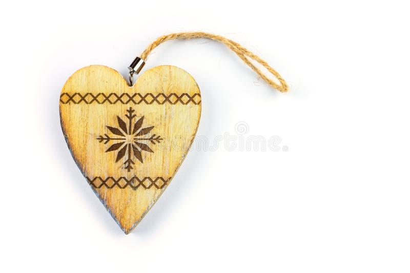 Decorative hearts on wood. royalty free stock photos