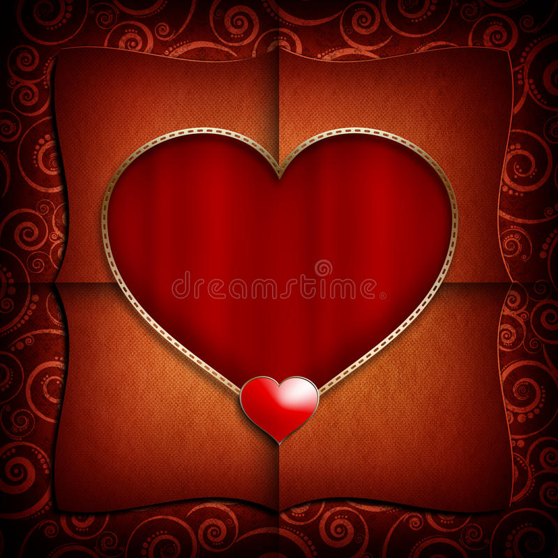 Valentine Day background template vector illustration