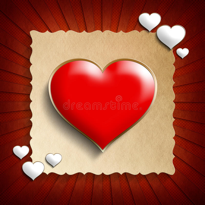 Valentine Day background template royalty free illustration