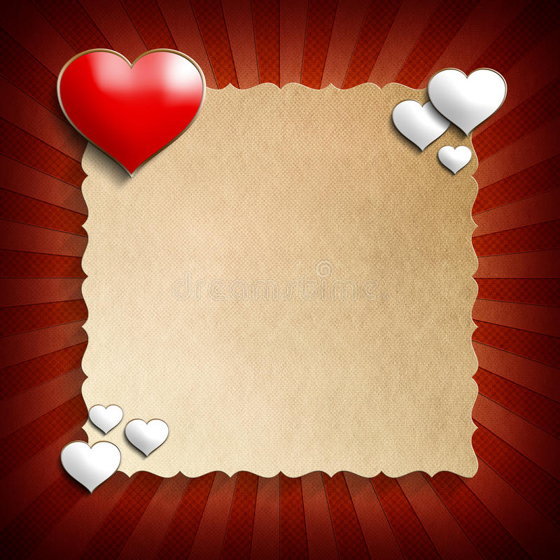 Valentine Day background template stock illustration