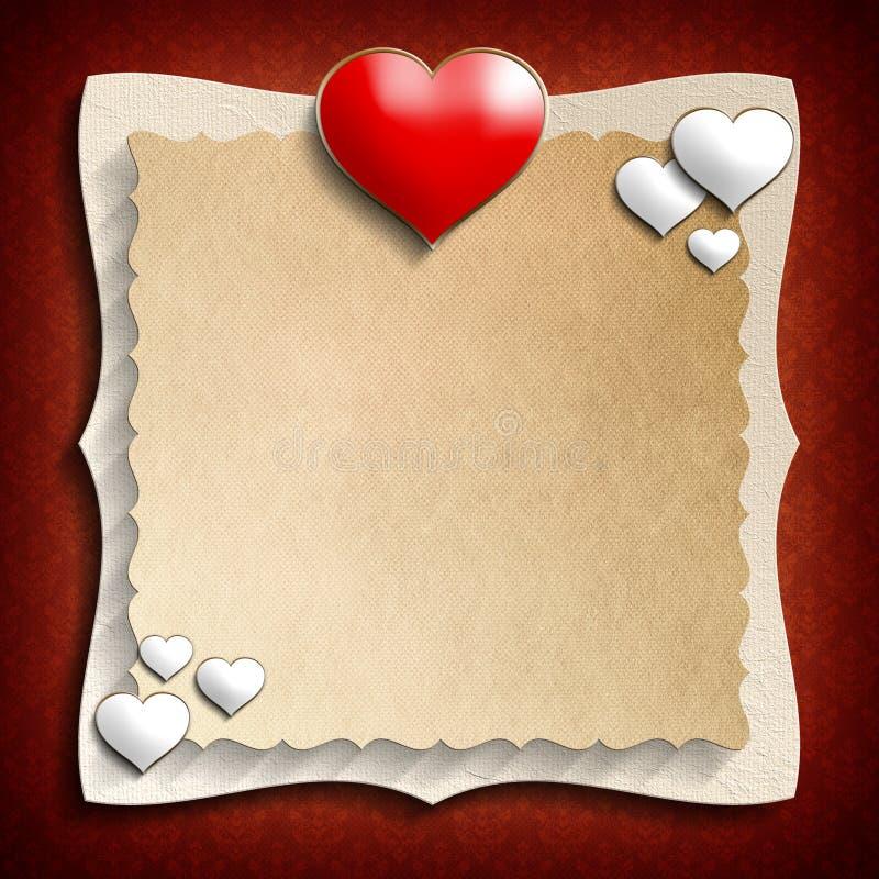 Valentine Day bakgrundsmall royaltyfri illustrationer