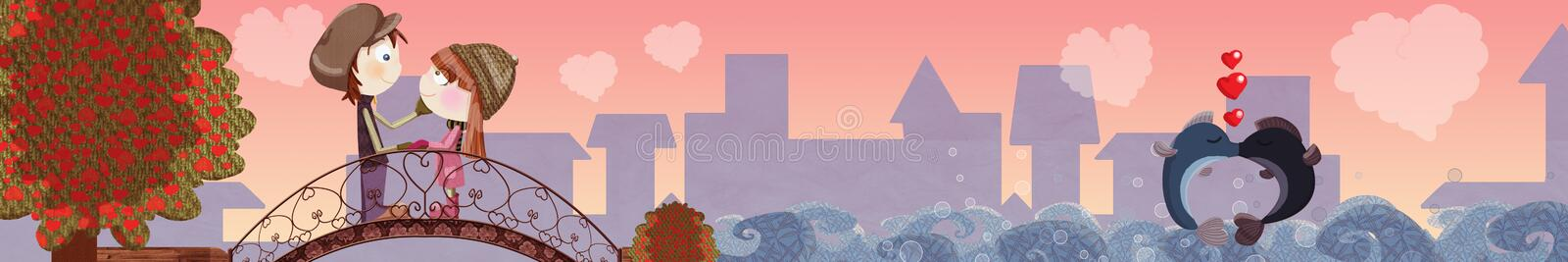 Download Valentine day Banner stock illustration. Image of cute - 23275378