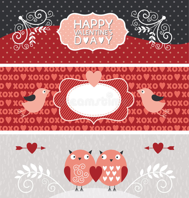 Download Valentine Day banners stock vector. Illustration of congratulation - 28837728