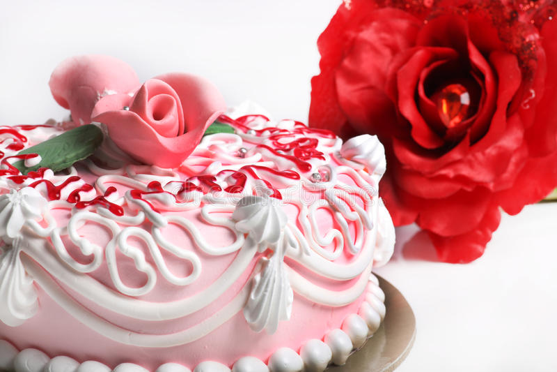 Valentine day cake stock image